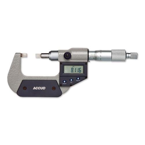 Bıçak Ağızlı Dijital Dış Çap Mikrometresi (IP65, Veri Çıkışlı)